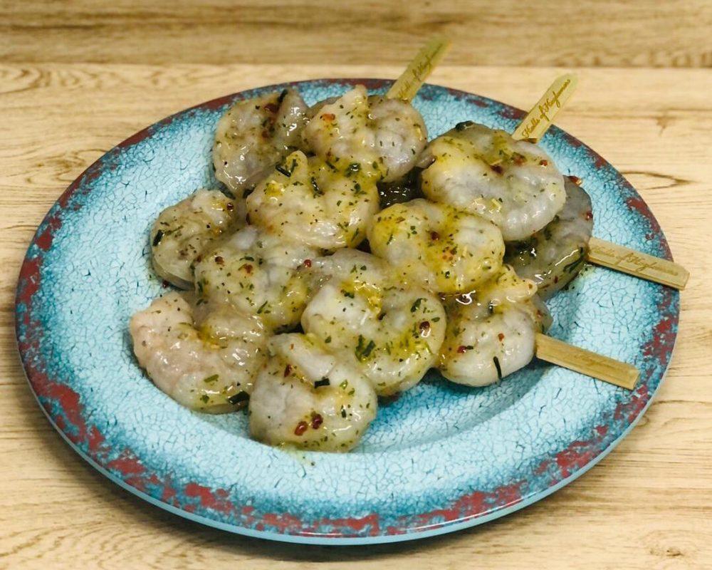 Garlic Prawn Skewers